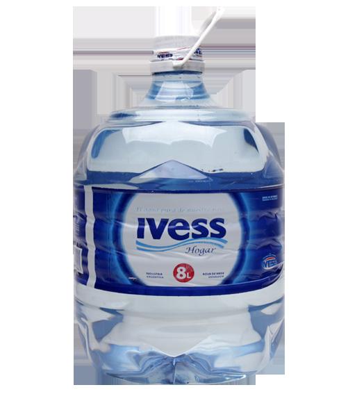 Agua mineral ivess bidon, botellon descartable 8 litros catamarca la rioja